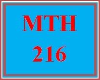 MTH 216 Week 4 MyMathLab® Week 4 Checkpoint