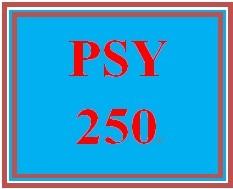 PSY 250 Week 3 Individual Personality Traits
