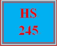 HS 245 Week 5 What Did You Learn?