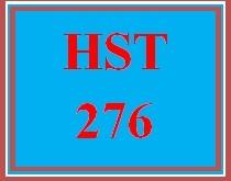 HST 276 Week 1 Week One Knowledge Check