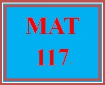 MAT 117 Week 7 MyMathLab Study Plan for Week 7 Checkpoint