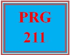 PRG 211 Week 2 Ch. 3, Prelude to Programming