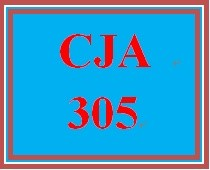 CJA 305 Week 1 Criminal Law Paper