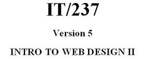 IT 237 Week 5 DQ 1