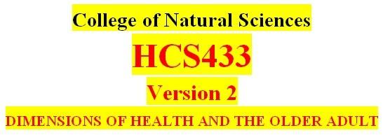 Entire HCS433 Course