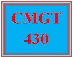 CMGT 430 Week 5 Individual An IT Security Department Profile