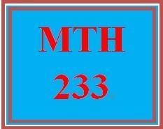MTH 233 Week 5 DQs