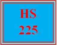 HS 225 Week 2 Student Reflection, Week 2