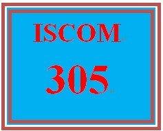 ISCOM 305 Week 4 Chapter Questions