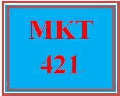 MKT 421 Week 2 Elements of a Marketing Plan Report