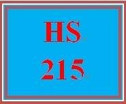 HS 215 Week 3 Coursemate Ch. 5 Quiz