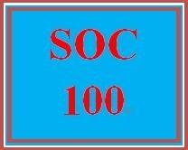 SOC 100 Week 1 Applying the Sociological Perspectives