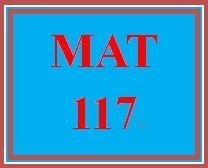 MAT 117 Week 9 MyMathLab Study Plan for Final Exam