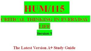 HUM 115 Week 4 Problem Solving