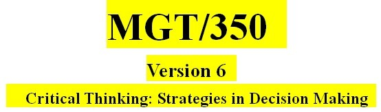 Entire MGT350 Course