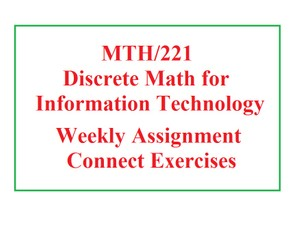 MTH 221 Week 2 Assignment - Week 2 Connect Exercises