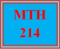 MTH 214 Week 3 MyMathLab Mastery Points Formative Assessment