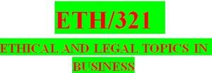 ETH 321 Week 1 Knowledge Check