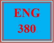 ENG 380 Week 1 Language and Linguistics Worksheet