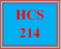 HCS 214 Entire Course.