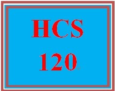 HCS 120 Week 1 Understanding the Business Side of Health Care