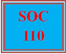 SOC 110 Week 4 Participation