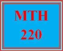 MTH 220 Week 5 Methods of Counting