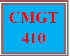 CMGT 410 Week 1 Lynda.com: Project Management Fundamentals