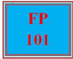 FP 101 Week 1 Personal Cash Flow Statement