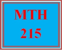 MTH 215 Week 5 Study Plan for Final Examination