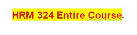 HRM 324 Week 2 Internal and External Equity Comparison