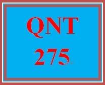 QNT 275 Week 1 Practice Set