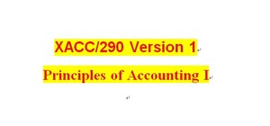 XACC 290 Week 9 Financial Reporting Problem, Part 2