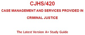 CJHS 420 Week 5 Learning Team Assignment