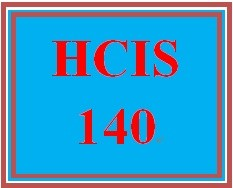 HCIS 140 Week 1 Database Records and Relational Data Worksheet