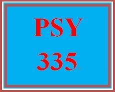 PSY 335 Week 3 Week Three Quiz