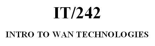 IT 242 Week 8 Assignment - Wireless Signals