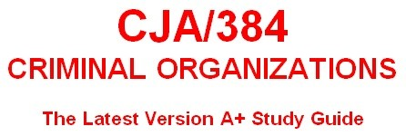 CJA 384 Week 4 Social Disorganization Question & Answer