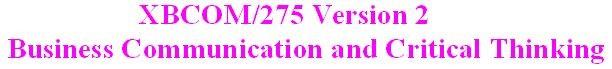 XBCOM 275 Week 1 CheckPoint - Communication Process Model