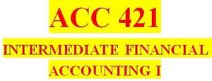 ACC 421 Week 3 Textbook Problems