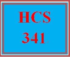 HCS 341 Entire Course