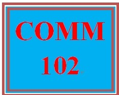 COMM 102 Week 2 Interpersonal Communication