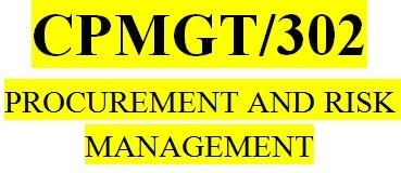 CPMGT 302 Week 3 Risk Response and Control Discussion