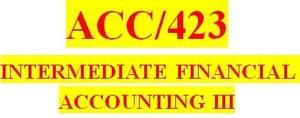 ACC 423 Week 4 Textbook Problems