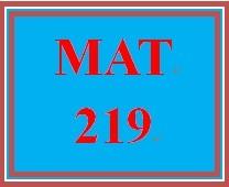 MAT 219 Week 3 participation Comparing methods
