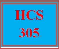 HCS 305 Week 5 Week Five Weekly Overview