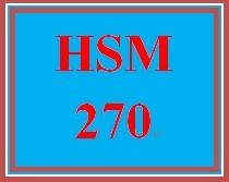 HSM 270 Week 5 Developing Methods