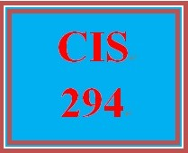 CIS 294 Week 4 Individual Support Portfolio –Online Research Exercise