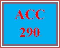 ACC 290 Week 1 instructor policies