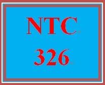 NTC 326 Week 1 Individual Configuration Scenario